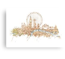 London skyline Maps Big Ben Canvas Print