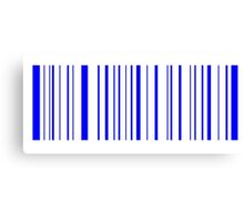 blue barcode Canvas Print