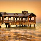 Covered Pier at Key West, Florida by Justin Baer