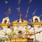 Church flags in Mexico by Richard McCaig