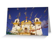 Church flags in Mexico Greeting Card