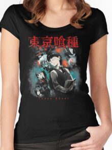 Kaneki Ken Cover Women's Fitted Scoop T-Shirt
