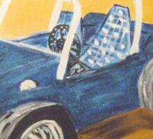blue dune buggy Sticker
