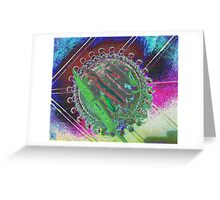 Hot Chilies in Glass Bowl Greeting Card