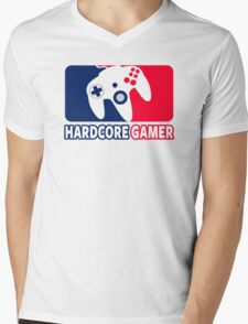 Hardcore Gamer Mens V-Neck T-Shirt