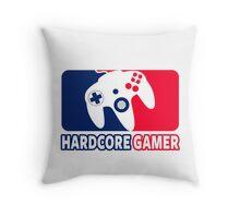 Hardcore Gamer Throw Pillow