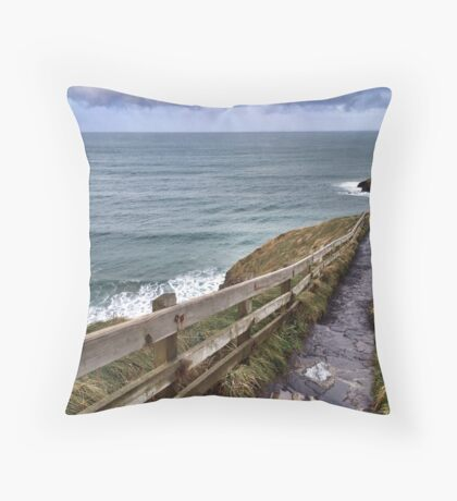Carrick-a-Rede Stairs Throw Pillow
