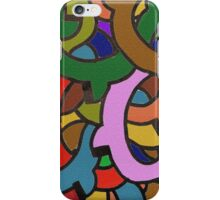 Digital Colorful Graffiti of Pipes iPhone Case/Skin