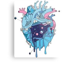 Frozen Alien Heart Metal Print