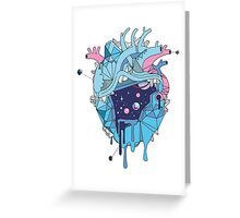 Frozen Alien Heart Greeting Card