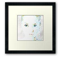 Pastel Portrait Framed Print