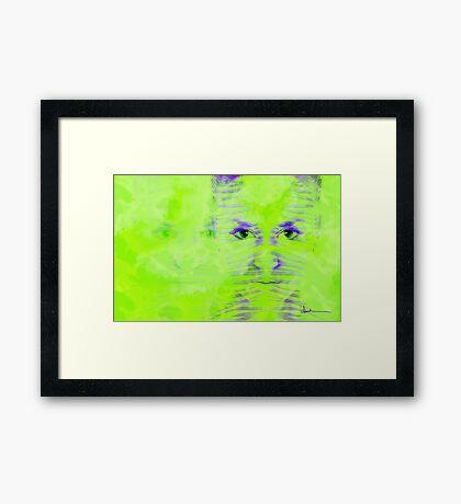 Reptile Girl Framed Print