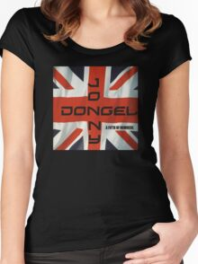 Jonny Dongel Record Cover Women's Fitted Scoop T-Shirt
