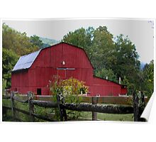 Red Barn near North Fork River Poster