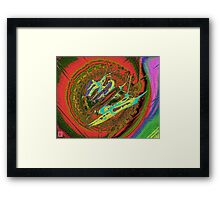 Hot Chilies circled by colours Framed Print