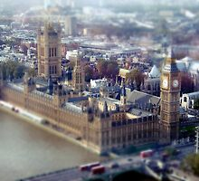 London Tilt Shift Model by Claire Elford