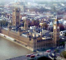London Tilt Shift Model by Claire Dimond