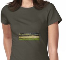 Horse in Field Womens Fitted T-Shirt