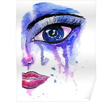 Painted Stylized Face Poster