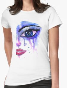 Painted Stylized Face Womens Fitted T-Shirt