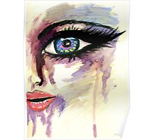 Painted Stylized Face 2 Poster