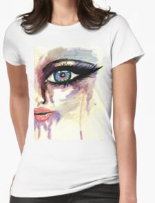 Painted Stylized Face 2 Womens Fitted T-Shirt