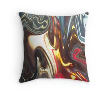 Columbus Night Energy Abstract  Throw Pillow