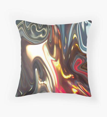 Columbus Night Energy Abstract  Throw Pillow