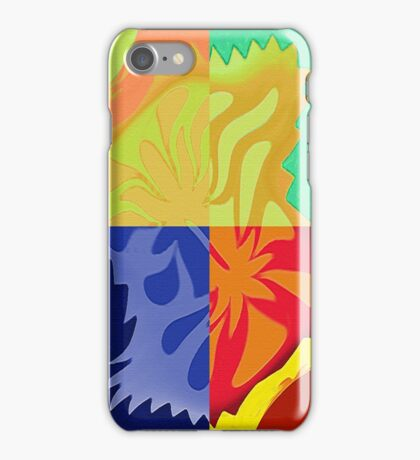 4 Way Colorful Abstract Shapes iPhone Case/Skin