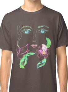 Painted Stylized Face 3 Classic T-Shirt