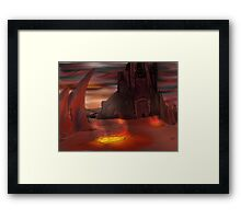 Lava Kingdom Framed Print