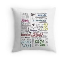 Disney Lyrics #2 Throw Pillow