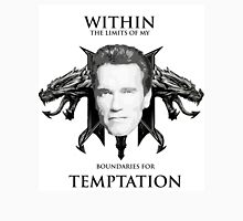Arnold Is Tempted, Are You? Men's Baseball ¾ T-Shirt