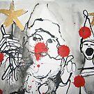 Santa with a golden star by Catrin Stahl-Szarka