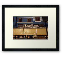 Bread shop in Brazil Framed Print