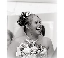 Laughter from the Bride Photographic Print
