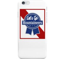 Lets Go Mountaineer Pabst Design iPhone Case/Skin