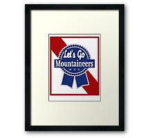 Lets Go Mountaineer Pabst Design Framed Print