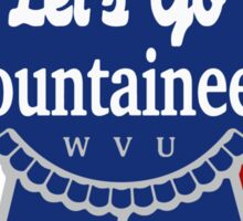 Lets Go Mountaineer Pabst Design Sticker