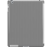 Black and White Vertical Micro Pin Stripes iPad Case/Skin
