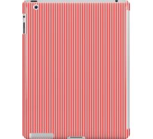 Red and White Vertical Micro Pin Stripes iPad Case/Skin
