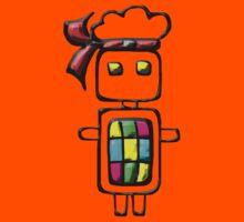 Ninja-bot Mascot  Kids Clothes