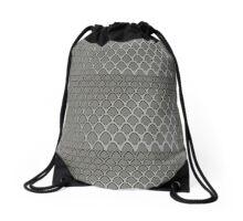 Silver Mesh Arches Drawstring Bag