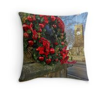 Corbridge Christmas Card Throw Pillow