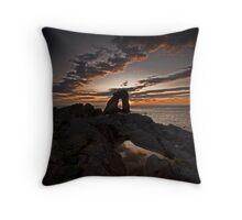 Sunset, Gaarda Stack, Foula Throw Pillow