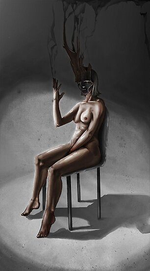 The sitting lady by Dull