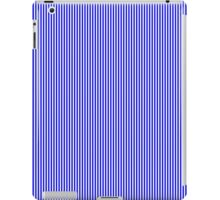 Blue and White Vertical Micro Pin Stripes iPad Case/Skin