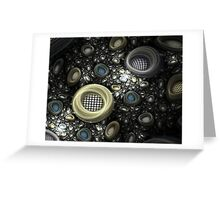 Golden Coils Greeting Card