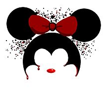Murderous Minnie Mouse Photographic Print