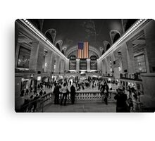 Stars and Stripes at Rush Hour Canvas Print